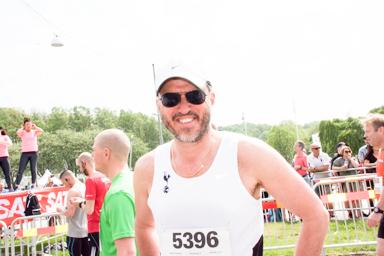 Martin Karlsson, en av många Bollebygdsbor som deltog i Göteborgsvarvet.
