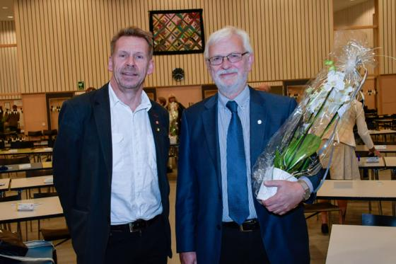 Peter Rosholm (S) coh Christer Johansson (M).