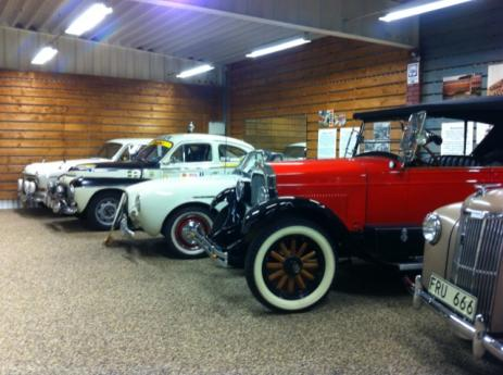 <span>Bilar på Bilmuseet i Olofström</span>