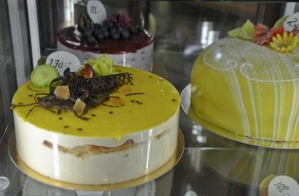 På Tewes finns det en massa olika tårtor