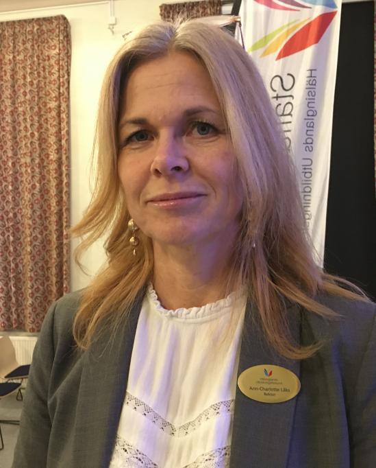 Ann-Charlotte Låks, rektor på Staffangymnasiet.