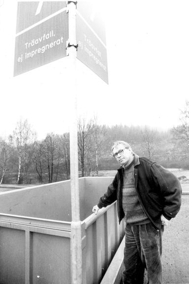 Jan-Åke Andersson (S) var kommunstyrelsens ordförande när den nya återvinningscentralen på Råssa invigdes.