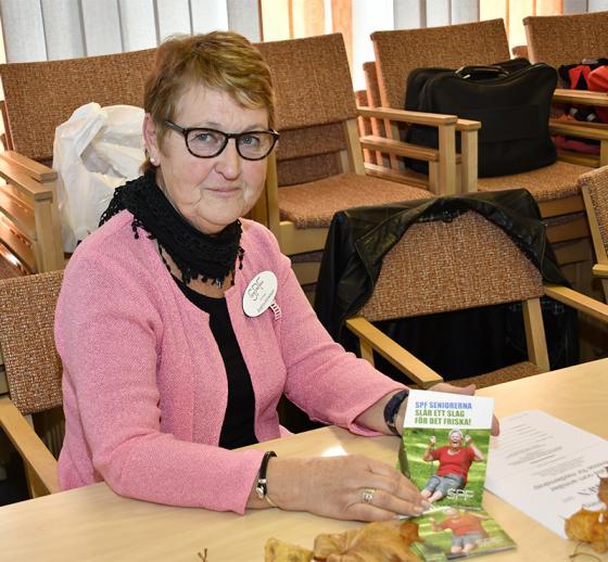 Birgitta Alfredsson värvade medlemmar till SPF.