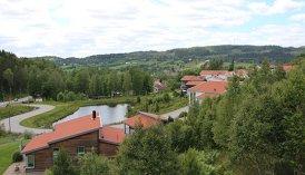 Utsikt över landskapet från det nya bostadsområdet Bergadalen. Foto: Bollebygds kommun.
