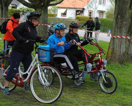 En liknande parcykel har tidigare kunnat bokas på Bräknetrampen, då från Karlskrona kommun. Men från i år kommer vi att ha en egen!