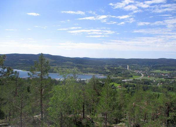 Utsikten mot Ullånger och fjärden från Äskjastugan