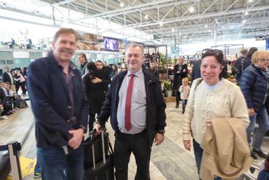Peter Rosholm mötte landsbygdsministern och hans politiskt sakkunniga på Landvetter.