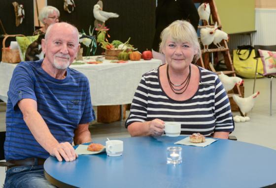 Sture Arekvist och Karin Utterberg Arekvist besökte arrangemanget båda dagarna.