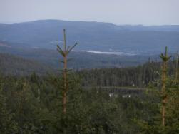 Utsikt mot Ullångersfjärden från Vallahöjden.